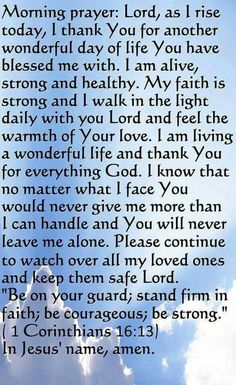 Start your day with this prayer.. (Christ Yehushua). sncncs n.s.