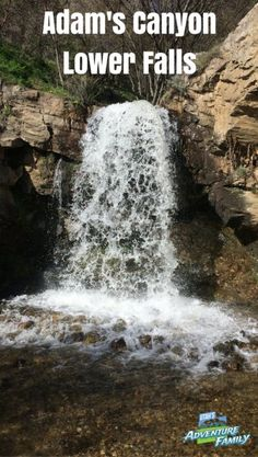 Adam's Canyon Lower Falls - Layton. An easy 1.5 mile hike to a beautiful waterfall! Utah's Adventure Family