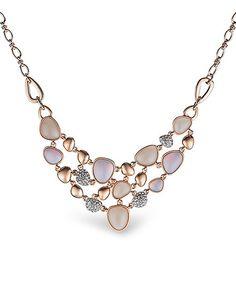 Amabel Designs Rose Gold Cluster Drop Necklace | zulily