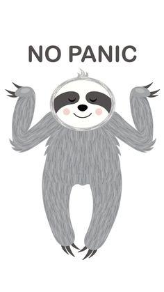 #animalsart #animalsprint #animalswatercolor #animalsgraphic #niceanimals #cuteanimals #animals Cute Baby Sloths, Cute Sloth, Cute Baby Animals, Animals Watercolor, No Panic, Spirit Animal, Cute Wallpapers, Iphone Wallpaper, Illustration Art