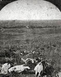 This is the earliest known photograph of the Little Bighorn Battlefield.