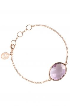 rose gold plated #amethyst bracelet I designed for NEW ONE I NEWONE-SHOP.COM
