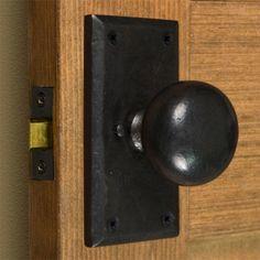 Marwick Rectangular Solid Bronze Knob Set   Privacy, Passage And Dummy