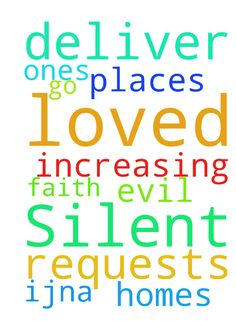Lord, I ask the Silent requests. Deliver me, loved - Lord, I ask the Silent requests. Deliver me, loved ones, homes amp; places we go from evil. Thank You for our increasing faith, IJNA. Posted at: https://prayerrequest.com/t/NEr #pray #prayer #request #prayerrequest
