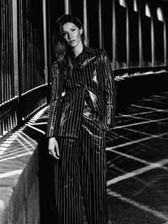 Gisele Bundchen by Karl Lagerfeld for Chanel S/S 2015 Chanel 2014 2015, Gisele Bundchen, Striped Pants, Karl Lagerfeld, Ad Campaigns, Image, Fashion, Moda, Stripped Pants