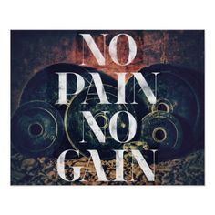 No Pain No Gain - Gym/fitness Motivational poster Motivational Messages, Motivational Posters, Workout Posters, Fitness Posters, I Hate Work, My Gym, Bodybuilding Training, Workout Rooms, Custom Posters
