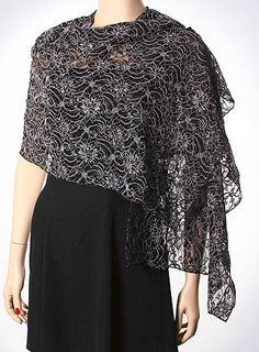 Shiny dressy formal shawls on sale. Lace shawls, embellished shawls & wraps in many seasonal colors. Chiffon Shawl, Silk Shawl, Capelet Pattern Sewing, Formal Attire For Women, Evening Shawls And Wraps, Lace Shawls, Dress With Shawl, Cute Dresses, Formal Dresses