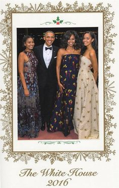 First Family! The Obamas 2016 Christmas Photo!
