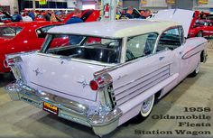 1958 Oldsmobile Fiesta Station Wagon  Check out www.charlesphoenix.com for more on this amazing #lavender #car !!! ... #charlesphoenix