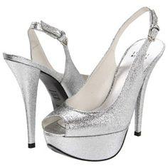 $238.80 Stuart Weitzman Bridal & Evening Collection Vevey (Silver Mini Glitter) Women's Shoes