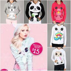 Urban Planet's cute animal hoodies!