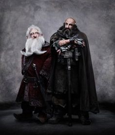The Hobbit: Balin and Dwalin...These two are brothers!!!! I was so surprised when i read this in the book!