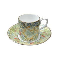 William Morris 'Golden Lilly' fine bone china Demitasse Cup and Saucer