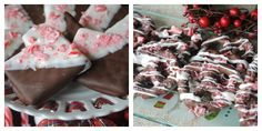 Christmas NO BAKE treats- Chocolate Peppermint Grahams and Chocolate Covered Pretzels with #Peppermint @shugarysweets