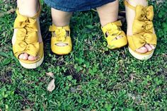 So cute mother/daughter shoe photo shoot!