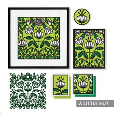 SVG files Floral symmetry wall art by A Little Hut - Patricia Zapata