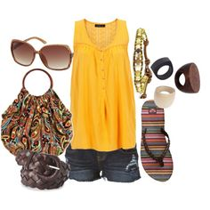 summer pattern play, created by lagu on Polyvore