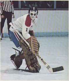 Michel Plasse with Montreal. Hockey Games, Ice Hockey Teams, Hockey Goalie, Hockey Players, Montreal Canadiens, Mtl Canadiens, Nhl, Hockey Highlights, Goalie Mask