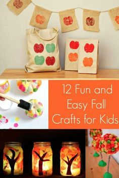 Get creative as a family this autumn with these 12 fun fall crafts for kids! Your children are sure to love several of the projects here. Scroll down to see them! Thanksgiving Arts And Crafts, Easy Fall Crafts, Diy And Crafts Sewing, Fall Crafts For Kids, Fall Diy, Crafts For Teens, Diy Crafts For Kids, Fun Crafts, Kids Diy