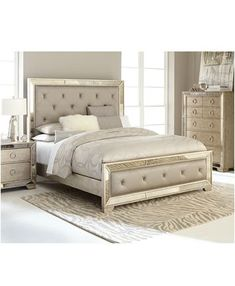 Image 1 of Ailey Bedroom Furniture Collection BedroomSets 416794140517658121 Mirrored Bedroom Furniture, Bedroom Furniture Design, Furniture Layout, Furniture Styles, Cool Furniture, Bedroom Decor, Furniture Ideas, Furniture Makeover, Furniture Buyers