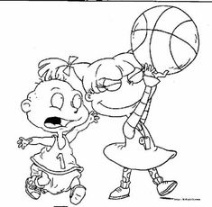 Rugrats Coloring Pages Free Printable Rugrats Coloring