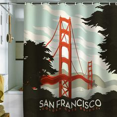 San Francisco Shower Curtain now featured on Fab.