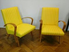 """Kreslo """"Zlutasci"""" , Chair Accent Chairs, Furniture Design, Retro, Vintage, Home Decor, Upholstered Chairs, Homemade Home Decor, Rustic, Vintage Comics"""