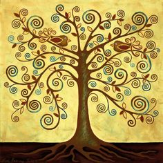 Tree Of Life Economical & Beautiful Giclee Art by QuirkyHappyArt, $15.00