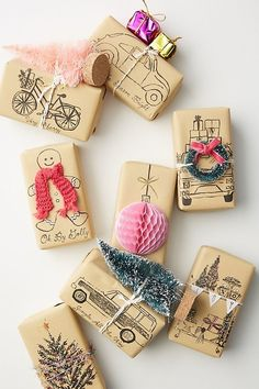 holiday gifts Anthropologie Affordable Christmas G - holiday Small Christmas Gifts, Diy Holiday Gifts, Noel Christmas, Christmas Gift Wrapping, Small Gifts, Christmas Crafts, Christmas Decorations, Ideas For Christmas Presents, Christmas Packages