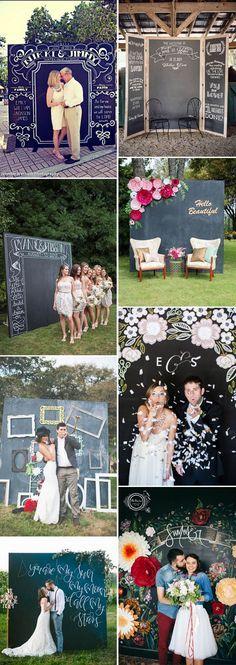 chalkboard wedding photobooth ideas