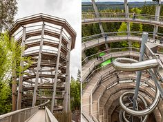 Tree Tops, Travel Abroad, Where To Go, Time Travel, Places To See, The Good Place, Road Trip, Germany, Stairs