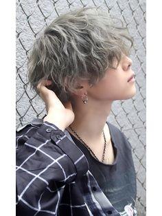 Medium Hair Styles, Curly Hair Styles, Androgynous Hair, Light Blue Hair, Short Curls, Boys Long Hairstyles, New Haircuts, Short Hair Cuts For Women, Hair Inspiration