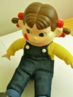 Vintage Kawaii Japan Pekochan Doll of Milky Candies.