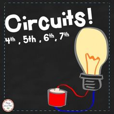 Circuits! When looking for electrical circuits material for my 5th graders, I found most either too basic or completely too wordy. So, I complied the must know information, in the most straightforward way I could, into this take home book for my class. It covers: What is a electric current, conductors, insulators, circuits, series circuits, parallel circuits, circuit diagrams, electromagnets, how magnets generate electricity, and various uses for electrical circuits.