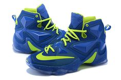 Authentic Nike Shoes For Sale Cheap Lebron 13 XIII Lebron James 2016 Shoes  Blue Lightgreen -