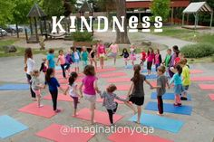 Why kids yoga? KINDNESS During Imagination Yoga adventures, students learn kindness isn't meant to be kept inside; it's our job to let it out! It's a gift to offer a child the opportunity and safe place to practice giving + receiving kind words. And when we honor our kind hearts, using kind words, and take actions with your kind thoughts, we're doing our part to move humanity in the direction of peace. This is why we built the Kindness Curriculum within our rotating program. #kindness…