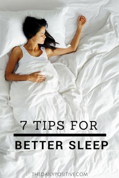 No matter how busy your life gets, it is very important for you to get at least seven to eight hours of sleep every night, which is recommended by many sleep specialists. Although we all live in a busy and stressful world, you can still achieve a good night's sleep by following these seven easy tips.