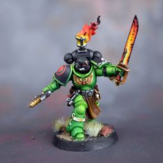 Warhammer 40k Salamanders, Salamanders Space Marines, Warhammer 40000, Black Armor, Silly Games, Cool Swords, Tyranids, Mini Candles, Warhammer 40k Miniatures