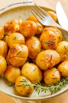 Potatoes Fondantes:  Sometimes the best side dish is the most traditional, and it doesn't get any more traditional than some roasted potatoes. Tossed in a buttery coating and topped with some rosemary, this classic is a surefire way to keep your guests happy. - Delish.com