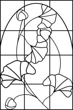 ginko stained glass square panel patterns - Google Search
