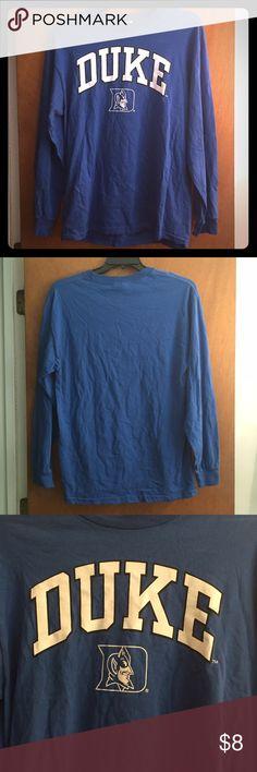 DUKE Blue Devils Shirt Very nice long sleeve DUKE tee. Get you college gear before school starts!!! Tops Tees - Long Sleeve