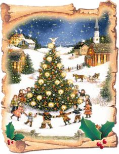 joulun onnittelut – Google-haku Christmas Animated Gif, Christmas Tree With Snow, Christmas Scenes, Very Merry Christmas, A Christmas Story, Christmas Pictures, Christmas Art, Winter Christmas, Vintage Christmas