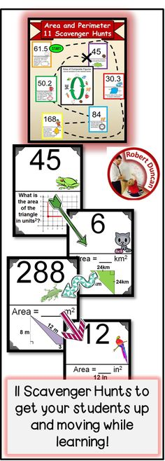 This Geometry Bundle focuses on Area and Perimeter for Secondary grades! :) Robert Duncan