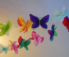 oooh! good craft. butterflies out of tissue paper.