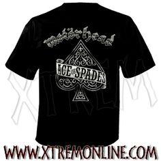 Camiseta de #Motörhead - Ace of Spades. Echa un vistazo a nuestra colección de camisetas de grupos heavy metal. Camisetas de #Lemmy.
