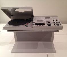 "Helmut Esslinger. Wega Stereo System Concept 51. 1978. Plastic and steel, 22"" X 33 X 15 7/16"". Photo: P. Popeson"