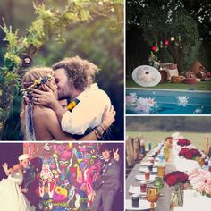 Hippie wedding. Would totally do this for a renewal
