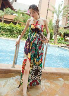ebe23c46aa stripe beach dress  69 Beach Dresses