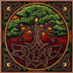 Tree of Life Cross Stitch Pattern - Tangled roots anchor this massive tree, as its branches soar heavenward, touching the stars. The Tree of Life stands as a bridge between worlds, and a connection between the visible world and the realm that lies just beyond our senses. Based on artwork by Lisa Parker. Design measures 464 stitches wide by 466 stitches high.:
