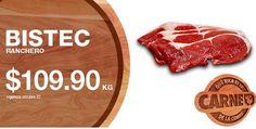 Ofertas de carnes en La Comer: ¿Buenos días? Buenos los martes de #QuéRicaeslaCarne, #LaComer tiene las siguientes ofertas y promociones en carnes:  > Bistec ranchero a solo $109.90 > Pollo entero tipo supermercado a solo $31.50 > Pulpa de pierna de cerdo a solo $84.90 > Costilla de cerdo a solo a $87.90